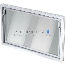 ACO paligtelpu logs vertikāli atverams, stikls 5mm 1000x1000mm