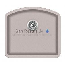 Aquasanita akmens masas virtuves izlietne ARCA 500 Beige 58.5x53.5 cm