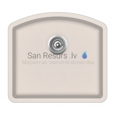 Aquasanita akmens masas virtuves izlietne ARCA 500 Silica 58.5x53.5 cm