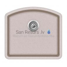 Aquasanita akmens masas virtuves izlietne ARCA 500 Ora 58.5x53.5 cm