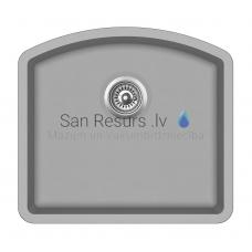 Aquasanita akmens masas virtuves izlietne ARCA 500 Argent 58.5x53.5 cm