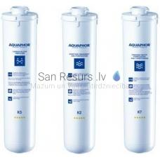 Aquaphor Crystal ūdens filtra kārtridžu komplekts K3-K2-K7