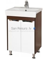 Aqua Rodos Nika  55 шкафчик с раковиной  (venge)