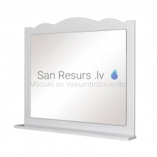 Aqua Rodos Classic 100 Spogulis ar plauktu (balts)