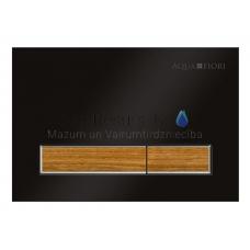 KKPOL M08V1 sienā iebūvējama poda poga (melns/teak koks)