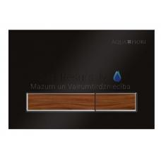 KKPOL M08V1 sienā iebūvējama poda poga (melns/riekstkoks)