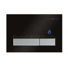 KKPOL M08V1 sienā iebūvējama poda poga (melns/satīns)