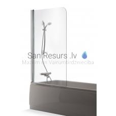 Baltijos Brasta vannas siena MAJA caurspīdīgs stikls 150x100