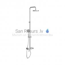 Mio-N dušas sistēma, ar regulējamu augstumu (dušas galva: ∅ 200 mm, rokas duša: ∅ 130 mm (4. režīmi))