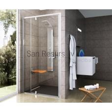 Ravak dušas durvis Pivot PDOP2 100 balta/balta + caurspīdīgs stikls
