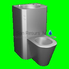 SANELA piekarams tualetes poda komplekts ar izlietni, 24 V