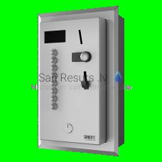 SANELA iebūvējamais monētu un žetonu  automāts 2-8 vai dušām, tiešā vadība, dušu izvēlas lietotājs