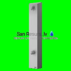 SANELA nerūsējošais dušas sienas panelis bez pjezopogas - silta un auksta ūdens padevei, temperatūra iestatāma ar mehānisko maisītāju