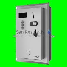 SANELA iebūvējamais monētu un žetonu automāts 1-3 dušām, interaktīvā vadība, dušu izvēlas lietotājs