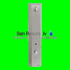 SANELA nerūsējošais RFID žetonu dušas panelis, aukstam un siltam ūdenim, ar termostatisko maisītāju, 24 V