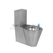 SANELA nerūsējošā grīdas tualetes pods + skalojamā kaste