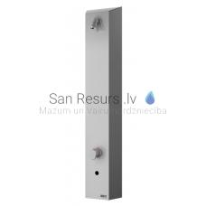 SANELA nerūsejošā tērauda dušas panelis SLSN 02ET 24V ar termostatisko jaucējkrānu
