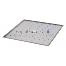 SANELA nerūsejošā tērauda dušas paliktnis SLSN 10 1000x1000