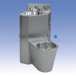 SANELA nerūsējošā tērauda tualetes podu komplekti ar izlietni
