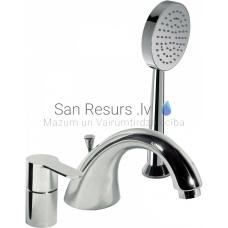 BM-TRES 3-daļīgs vannas jaucējkrāns ar dušu