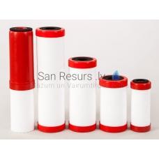 Mehāniskais kombinētais elements 10 MK CA AG ION sarkans (aktīvā ogle ar sudrabu un katjona sveķiem)