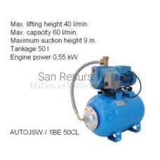 Ūdens apgādes sūknis AUTOJSW 1BE 50CL P=0.55kW 60l/min