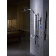 HUGO virsapmetuma dušas komplekts ar rokas dušu, lielo dušas galvu un izteces snīpi