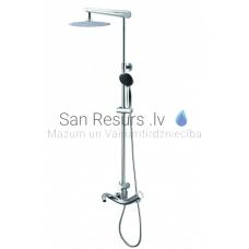 ROGO virsapmetuma dušas komplekts ar rokas dušu, lielo dušas galvu un izteces snīpi