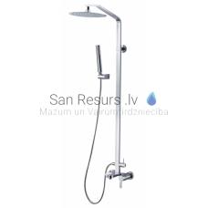 GALA virsapmetuma dušas komplekts ar rokas dušu, lielo dušas galvu un izteces snīpi
