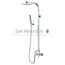 GALA virsapmetuma dušas komplekts ar rokas dušu un lielo dušas galvu