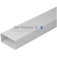 EUROPLAST plakanais kanāls plastmasas, 110x55mm, 1m K-1