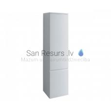 Augstais skapis Pro S, 350x335 mm, h=1650 mm, 1D, kreisā puse, spīdīgi balts